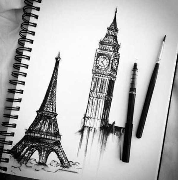 drawing of the eiffel tower the eiffel tower drawing at getdrawings free download the of drawing eiffel tower