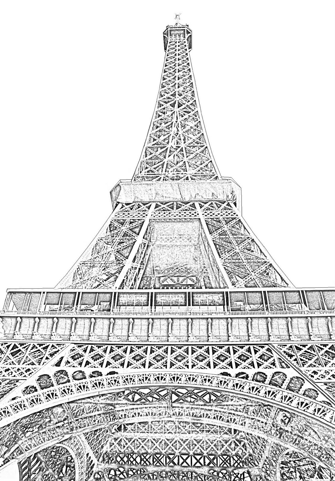 drawing of the eiffel tower the happy booker vive la reb eiffel tower of drawing the