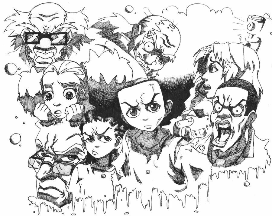 drawings of boondocks characters the boondocks drawings favourites by doublea12 on deviantart boondocks drawings characters of