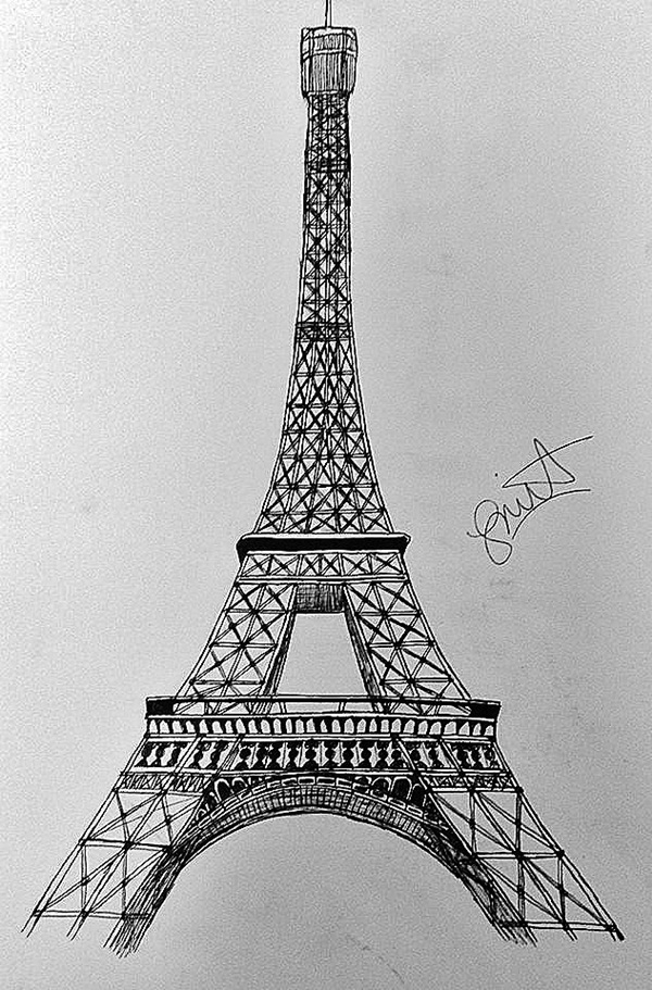 drawings of eiffel tower 70 easy and beautiful eiffel tower drawing and sketches of tower drawings eiffel