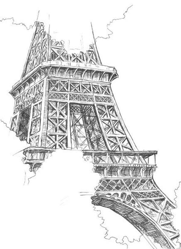 drawings of eiffel tower 70 easy and beautiful eiffel tower drawing and sketches of tower eiffel drawings