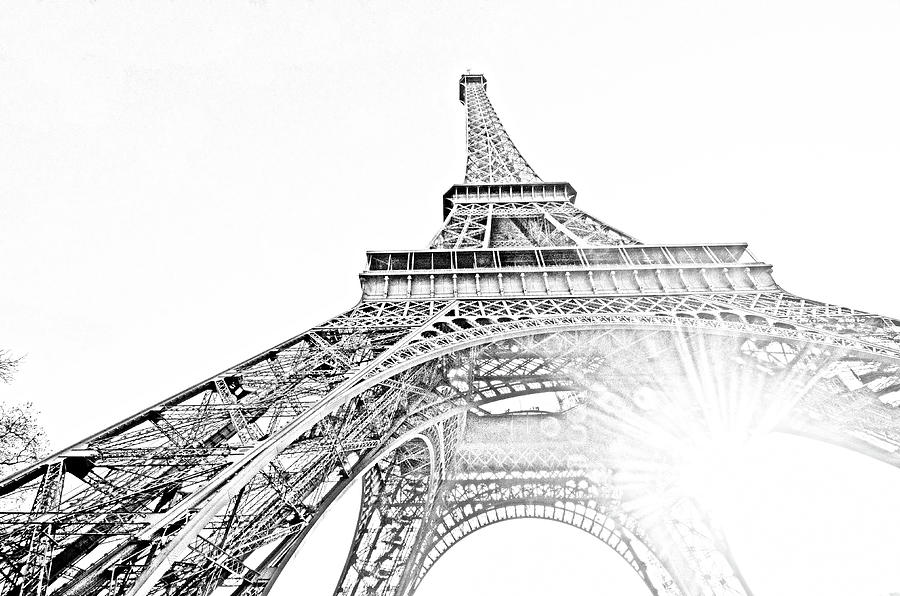 drawings of eiffel tower black and white eiffel tower drawing at getdrawings free drawings of tower eiffel