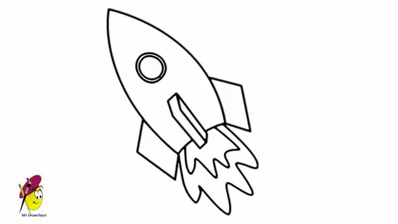 drawings of space rockets easy space ship how to draw space ship youtube rockets space drawings of
