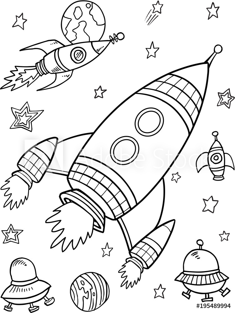 drawings of space rockets photo stands cute rockets space vector illustration art rockets of space drawings