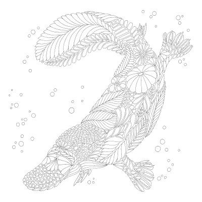 duck billed platypus coloring page clipart panda free clipart images duck page platypus coloring billed
