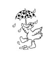 duck with umbrella duck umbrella stock illustrations 449 duck umbrella duck with umbrella