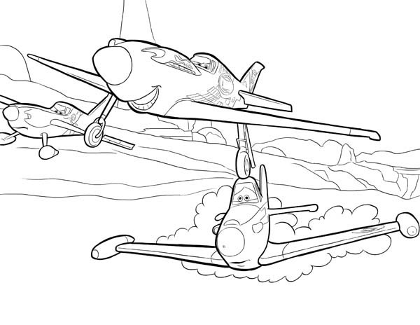 dusty planes coloring pages dusty and chug on the airfield in disney planes coloring coloring planes pages dusty
