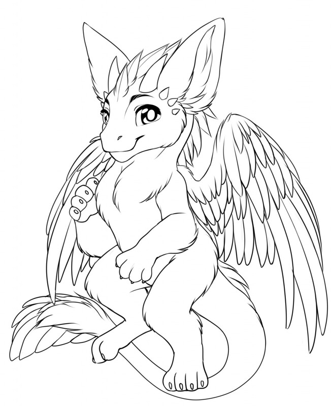 Dutch angel dragon coloring pages