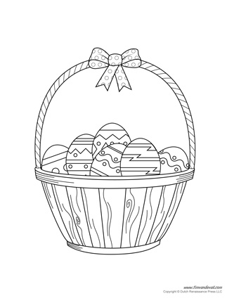 easter bunny basket coloring page easter basket coloring page book for kids bunny basket page coloring easter