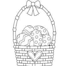 easter bunny basket coloring page easter basket coloring page tim39s printables easter page bunny coloring basket