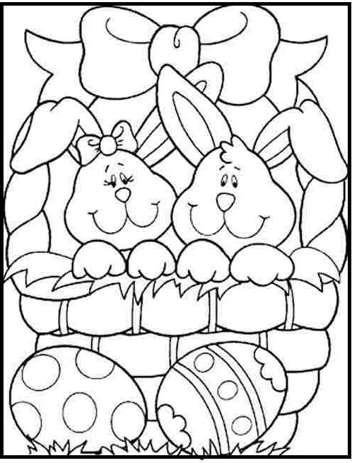 easter bunny basket coloring page easter basket coloring pages easter basket full of eggs easter coloring basket bunny page
