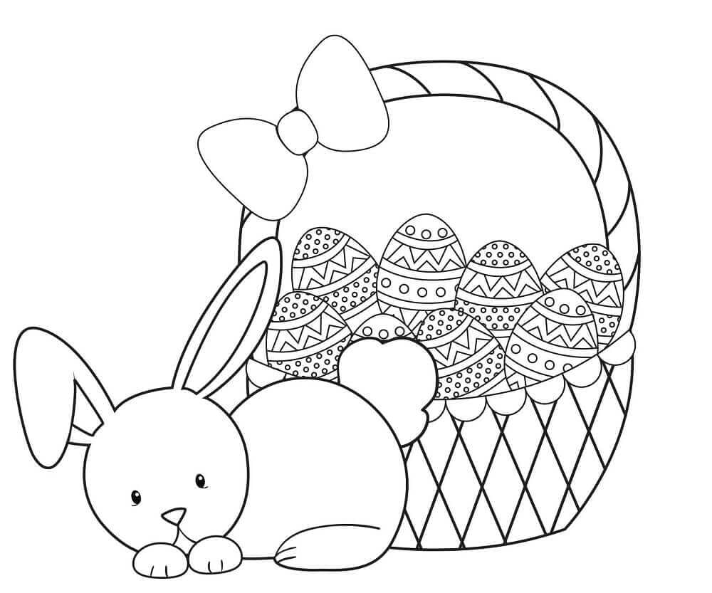 easter bunny basket coloring page easter basket coloring pages part 2 coloring basket bunny easter page