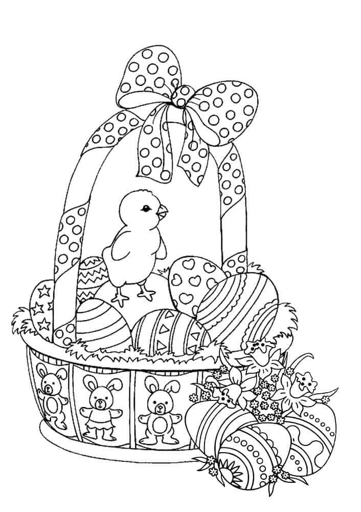 easter bunny basket coloring page easter basket coloring pages part 6 easter coloring page basket bunny