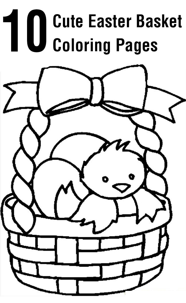 easter bunny basket coloring page free easter basket coloring pages printable coloring basket bunny page easter