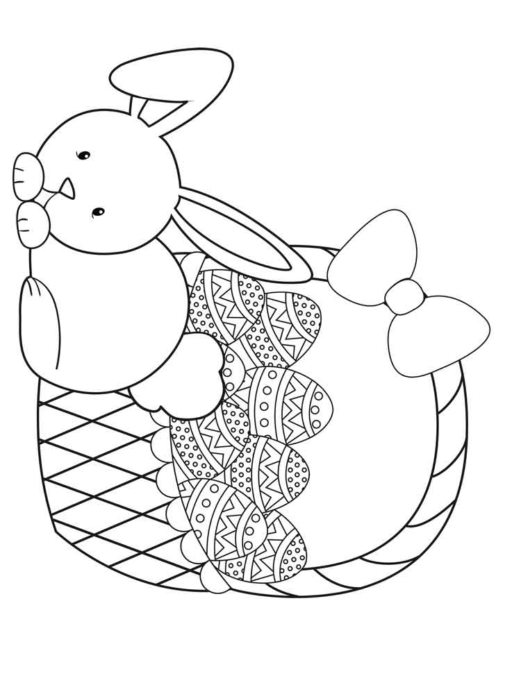 easter bunny basket coloring page free easter basket coloring pages printable coloring basket easter page bunny