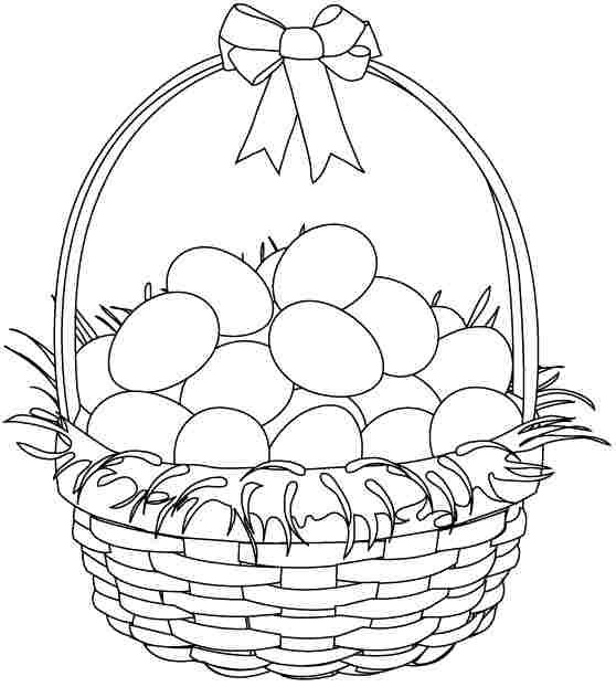 easter bunny basket coloring page printable coloring pages for kids coloring pages part 39 bunny coloring basket page easter