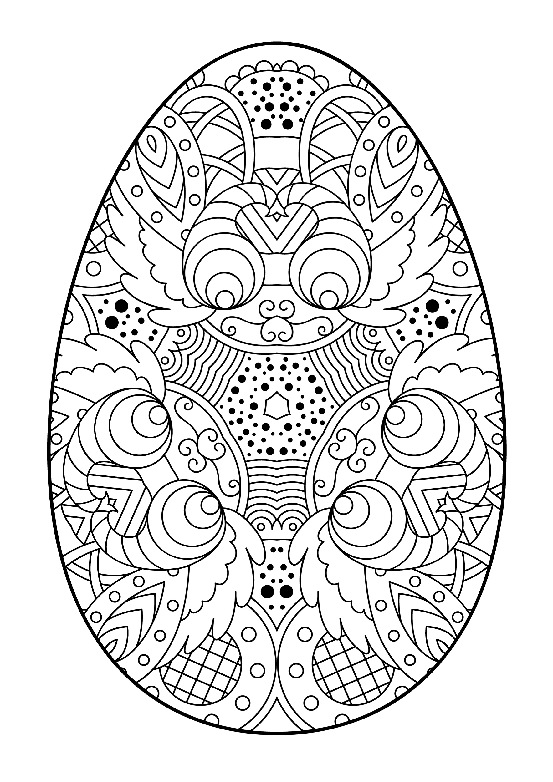easter coloring easter egg with an intricate pattern coloring pages for you easter coloring