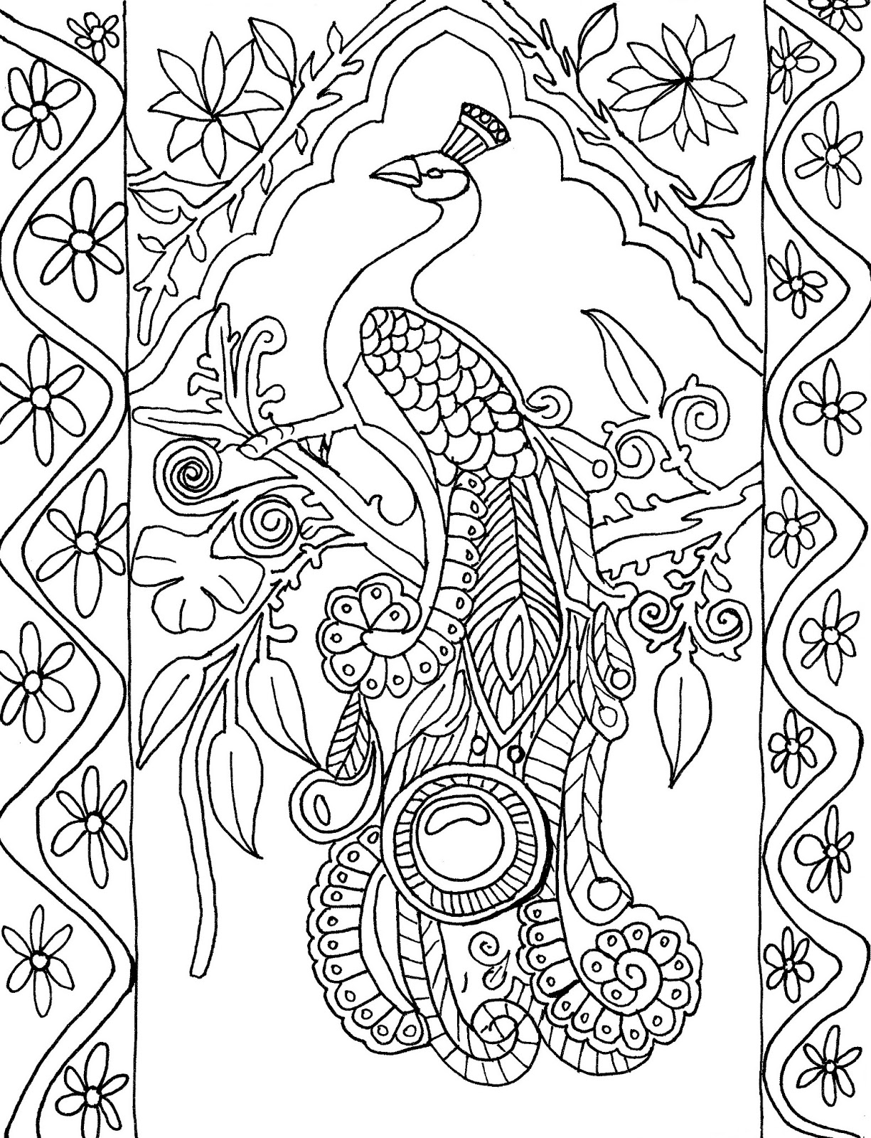 easy cute peacock coloring pages peacocks coloring pages download and print for free peacock easy pages cute coloring