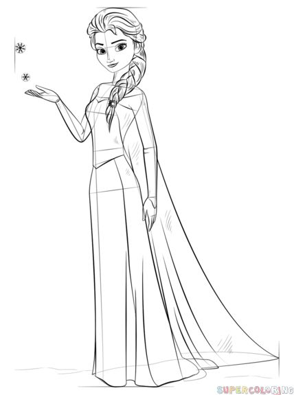 easy elsa drawing how to draw elsa from frozen step by step drawing drawing easy elsa