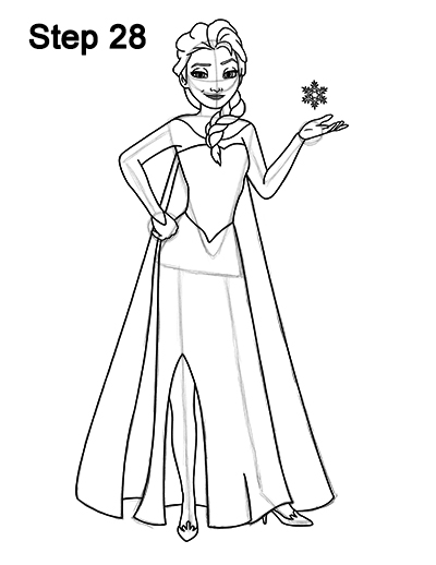 easy elsa drawing how to draw elsa full body from frozen drawing easy elsa