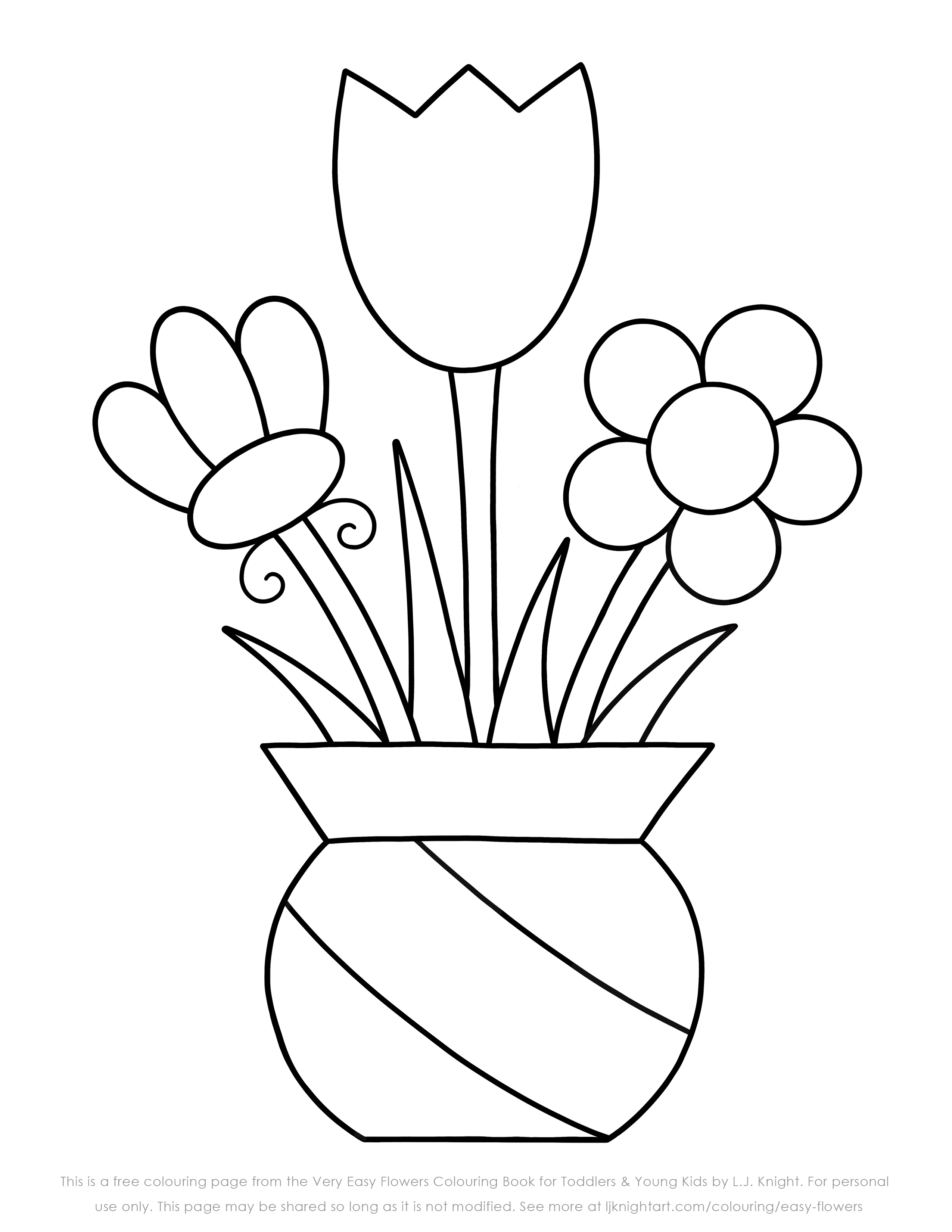 easy flower coloring pages easy flower coloring pages coloring home coloring flower pages easy