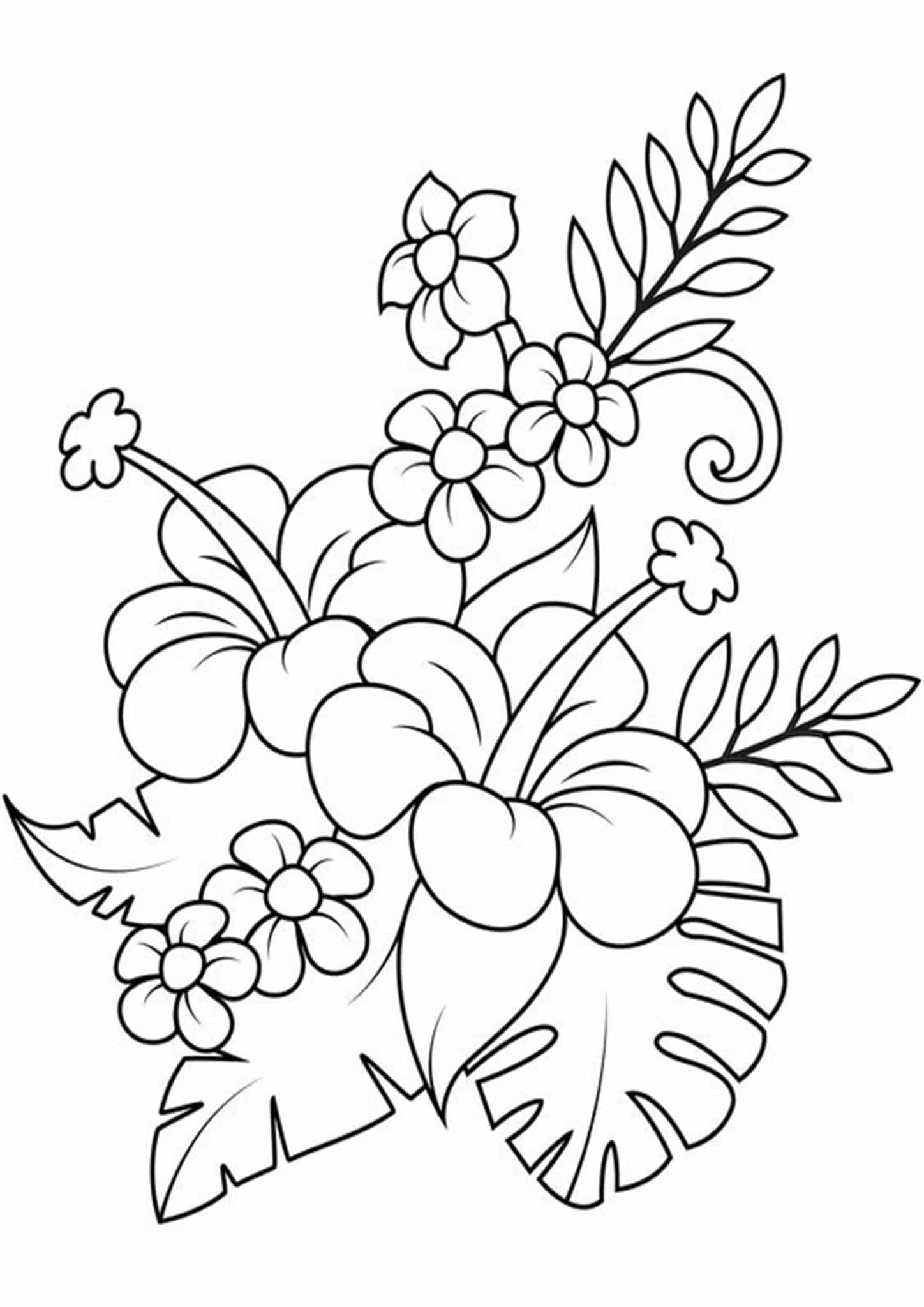 easy flower coloring pages free easy to print flower coloring pages tulamama coloring flower pages easy