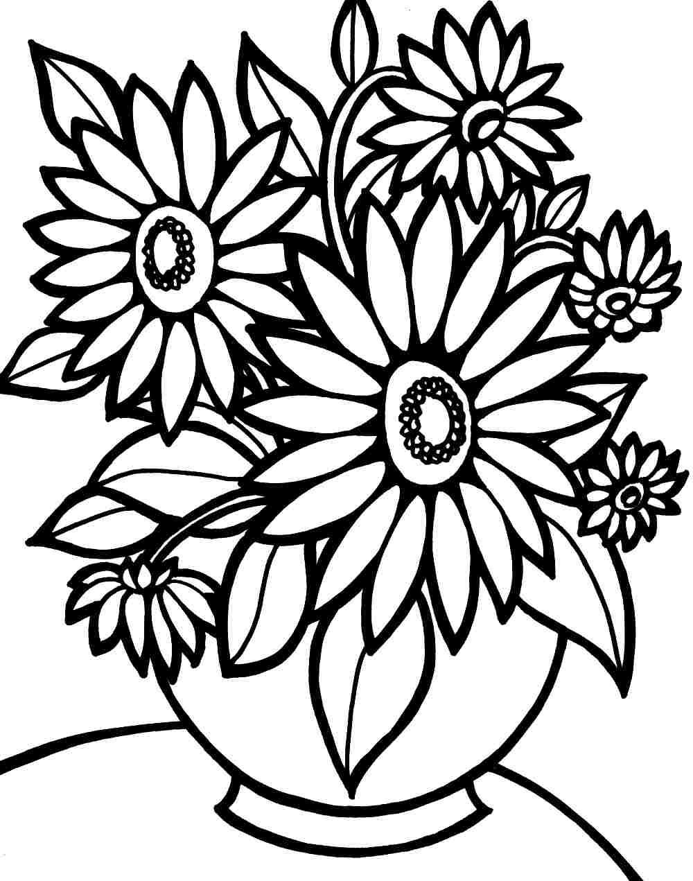 easy flower coloring pages free easy to print flower coloring pages tulamama easy pages coloring flower