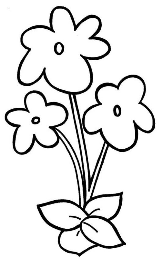 easy flower coloring pages large print adult coloring book 2 big beautiful flower coloring pages easy