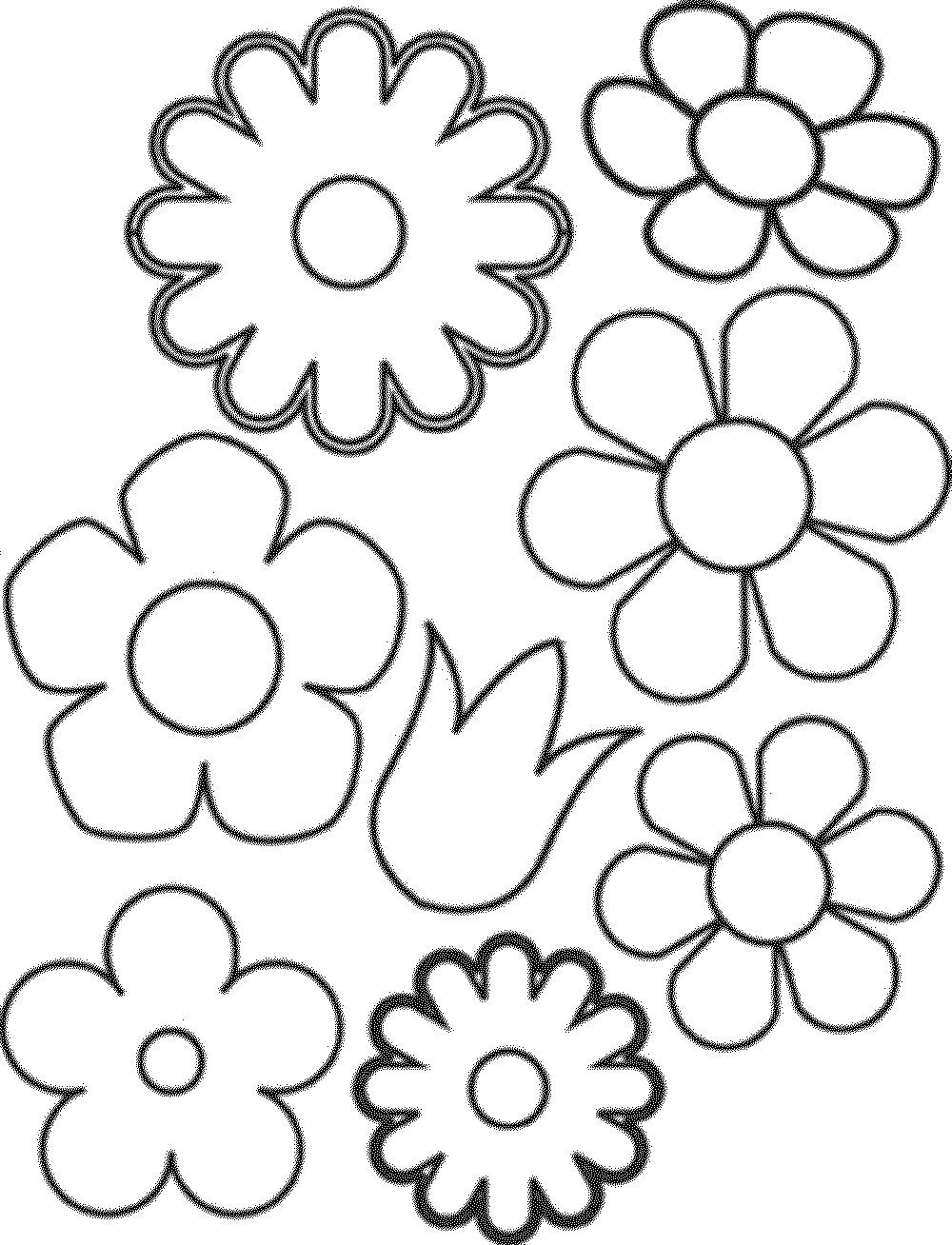 easy flower coloring pages simple flower coloring page cute flower easy flower pages coloring