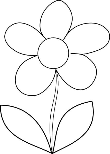 easy flower coloring pages simple flower coloring page for kids free printable picture easy pages coloring flower