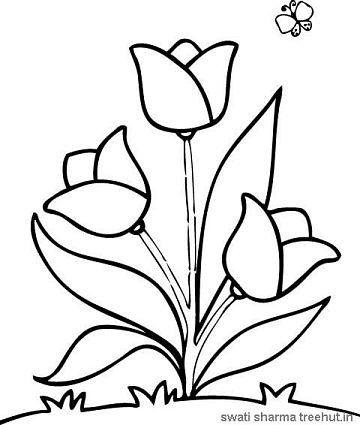 easy flower coloring pages simple flower kisvackor mindennapjai flower easy coloring pages