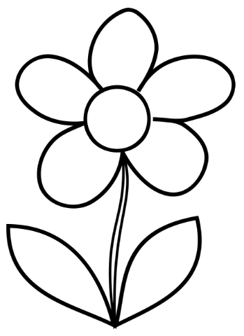 easy flower coloring pages single flower coloring pages at getcoloringscom free flower easy coloring pages