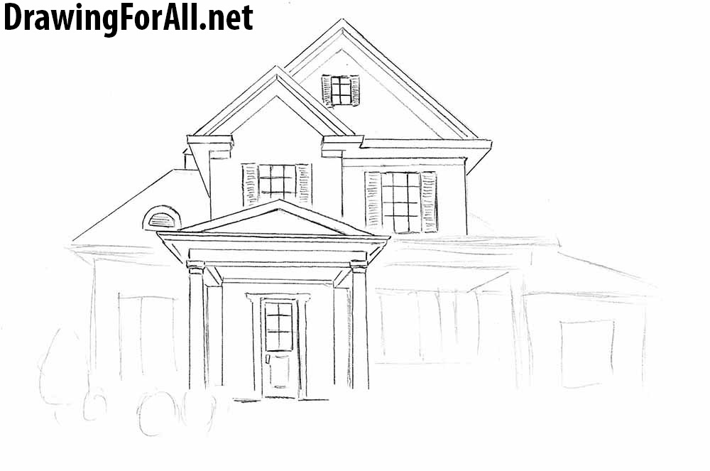 easy to draw mansion easy house drawings in pencil zion star draw to easy mansion