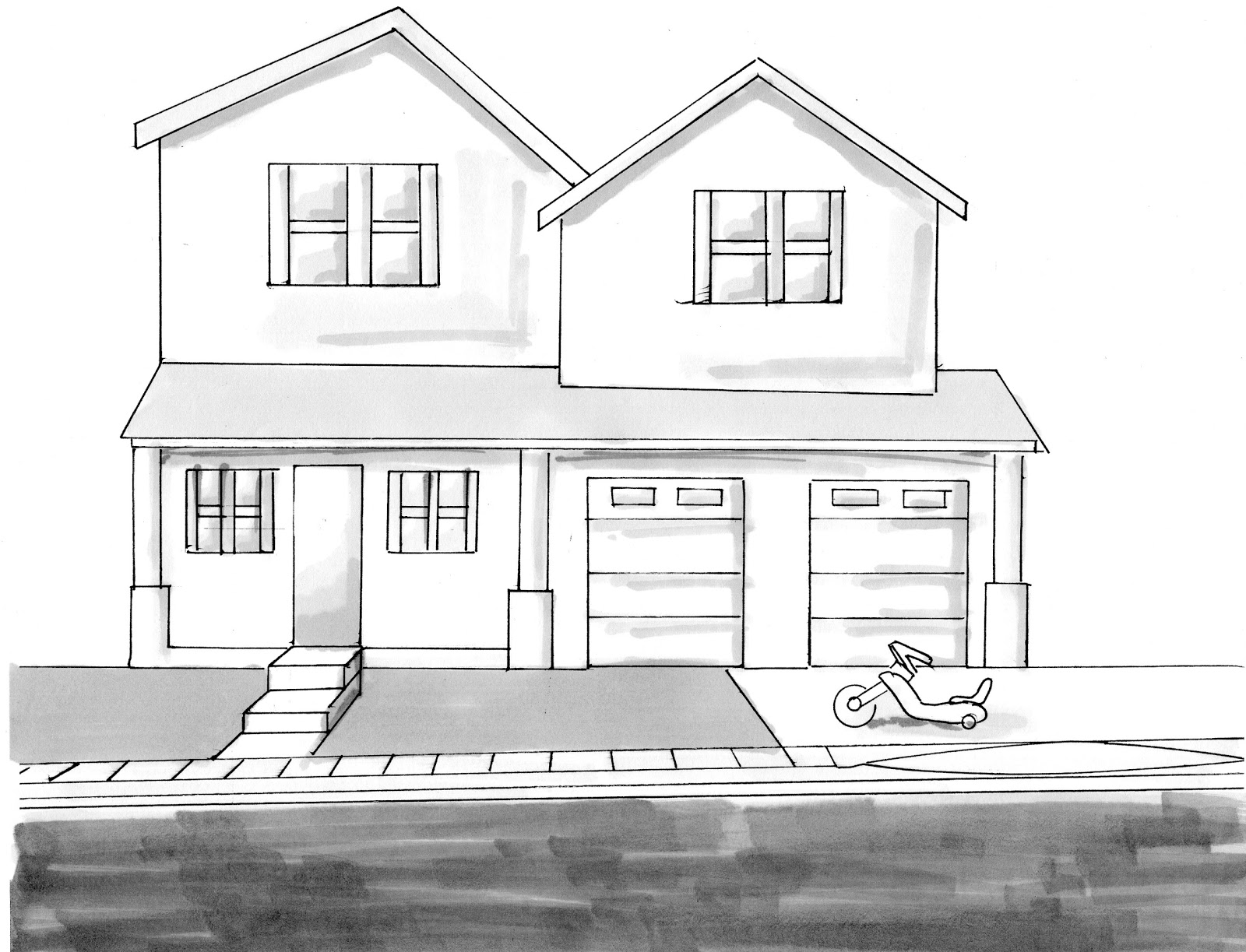 easy to draw mansion easy house drawings modern basic simple home plans mansion to easy draw