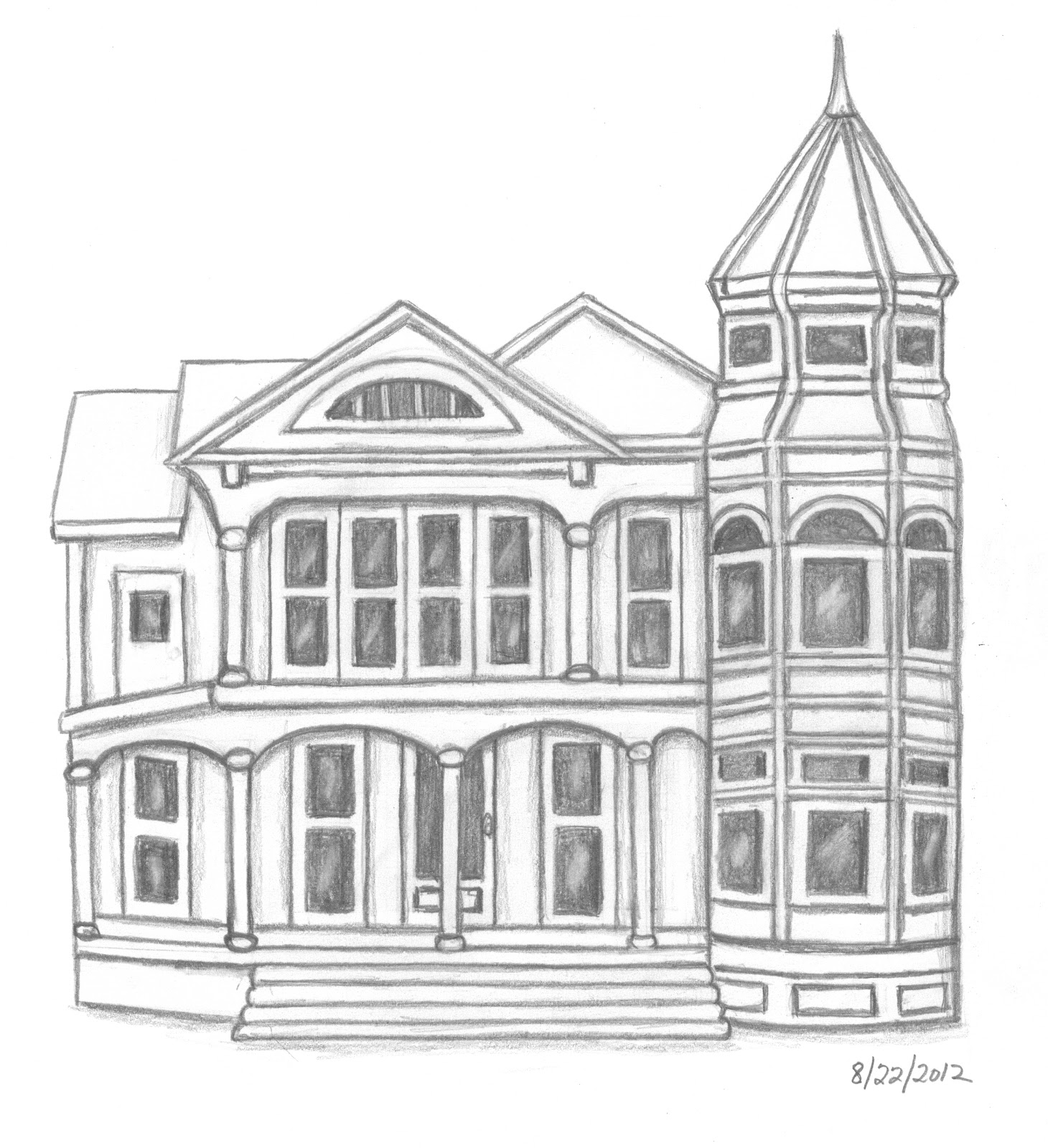 easy to draw mansion how to draw a haunted house for kids step 5 simple house to draw mansion easy