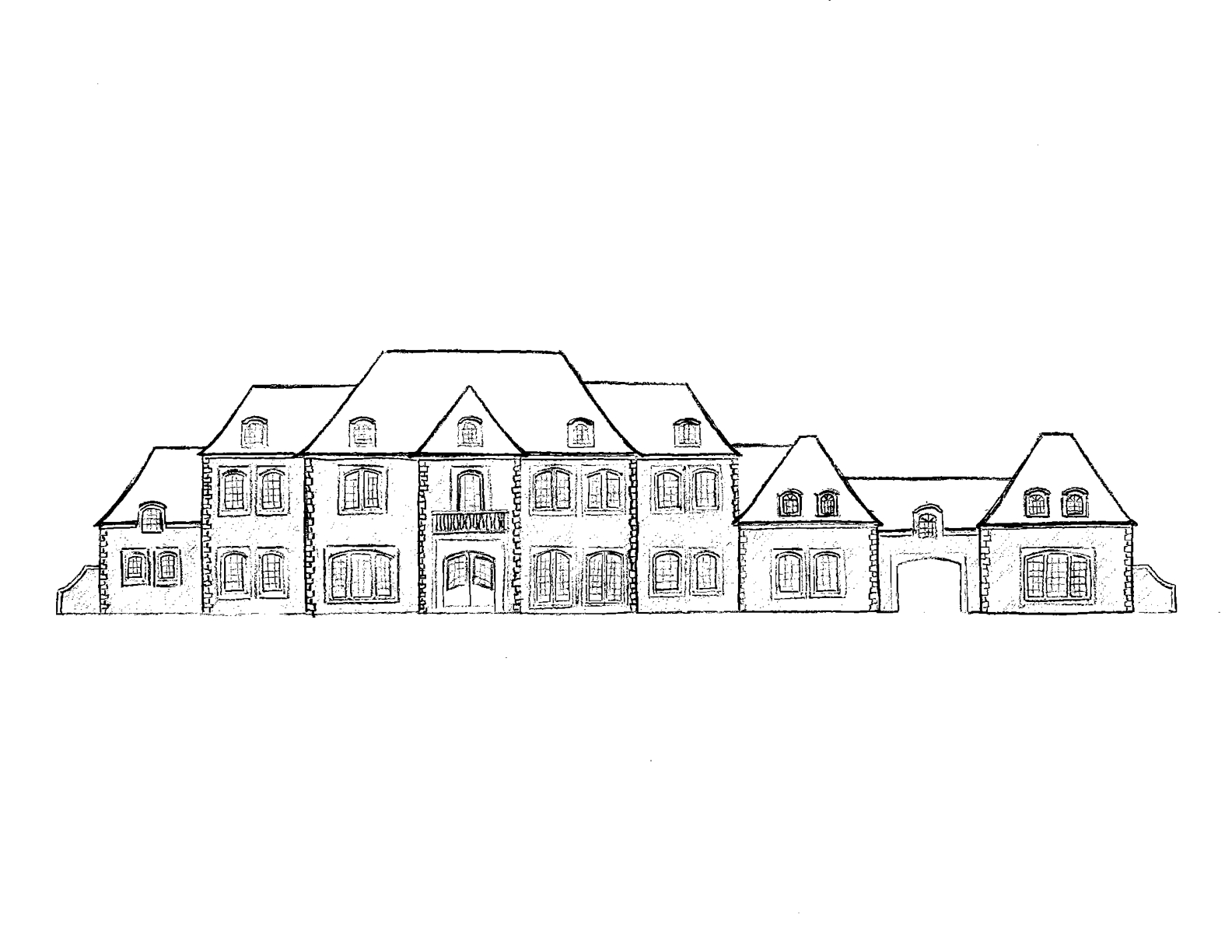 easy to draw mansion how to draw a house for beginners drawingforallnet to easy draw mansion