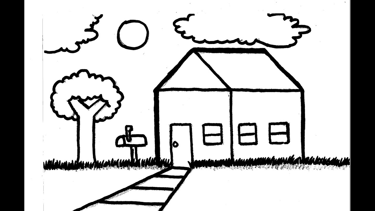 easy to draw mansion kids learn to draw house google search drawing for kids mansion easy draw to
