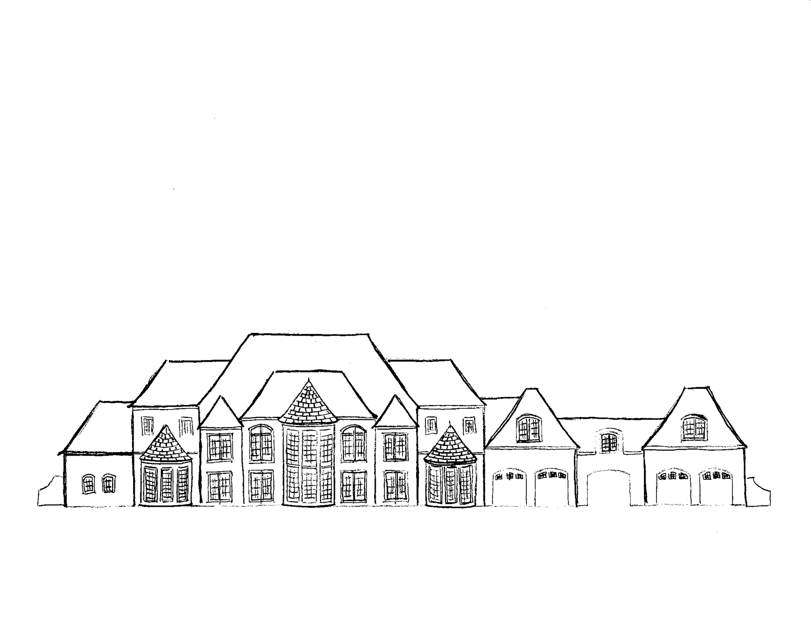 easy to draw mansion learn how to draw mansion house houses step by step draw to mansion easy