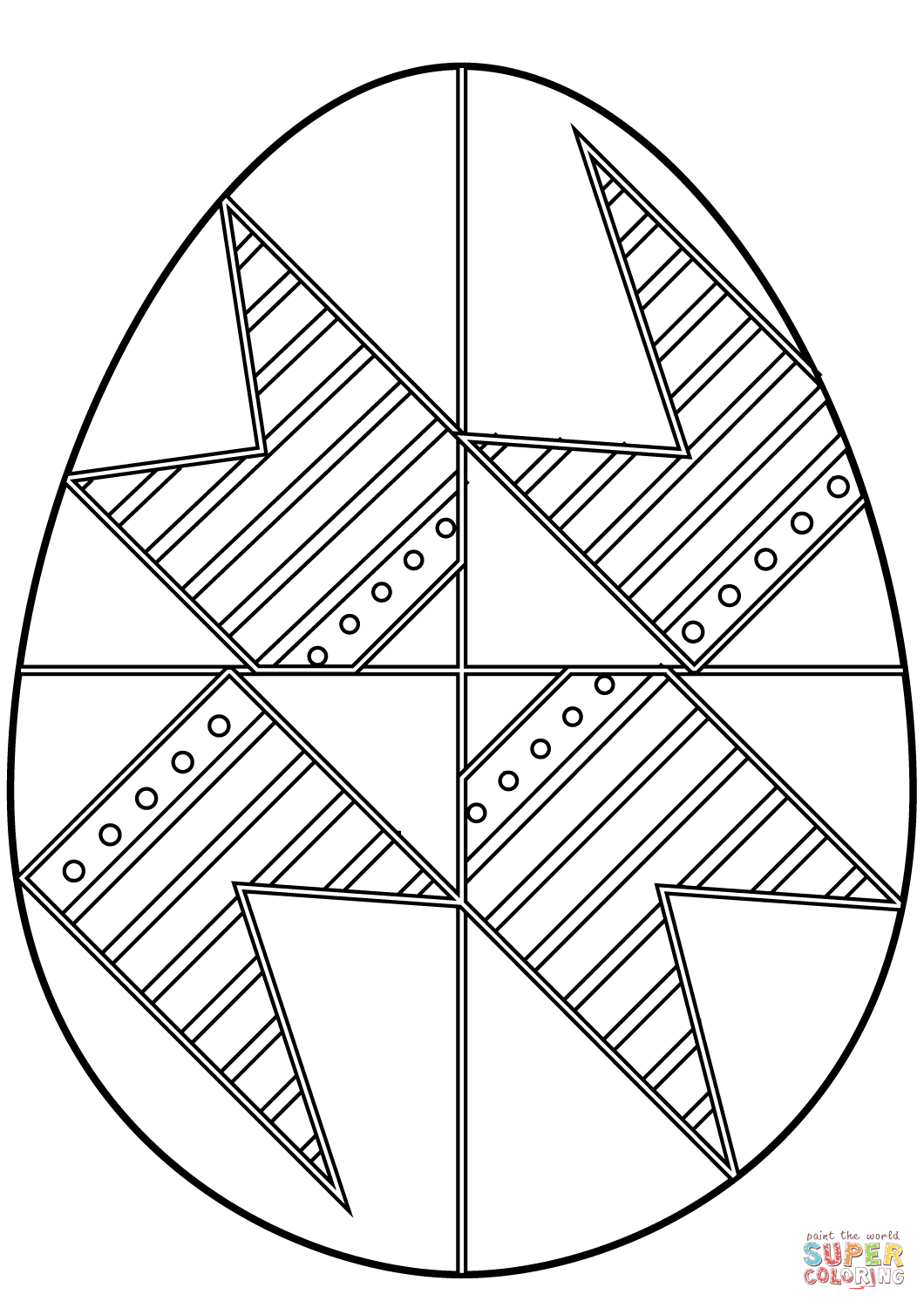 egg coloring sheet easter egg with abstract pattern coloring page free sheet egg coloring