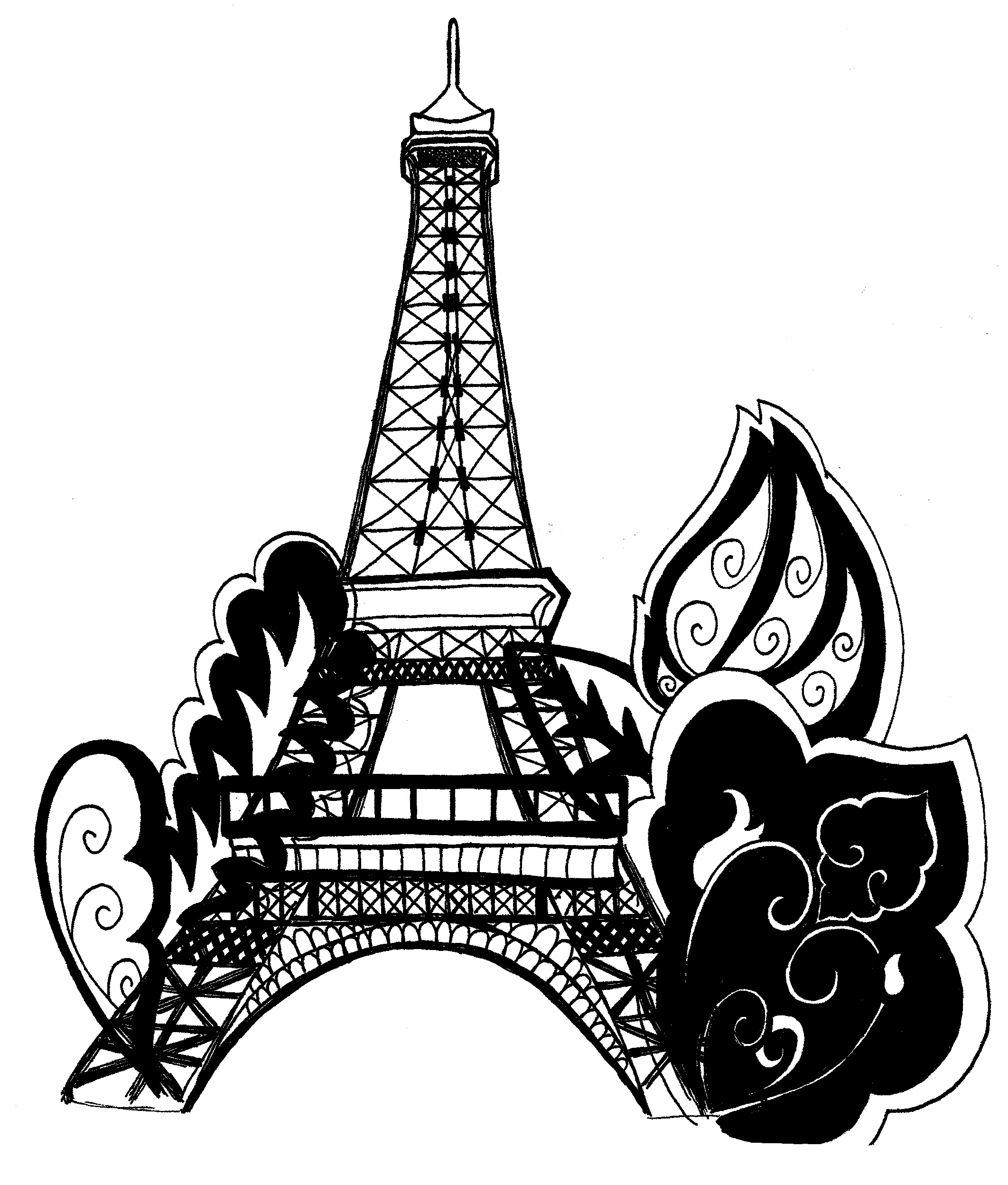 eiffel tower printable free printable eiffel tower coloring pages for kids eiffel printable tower