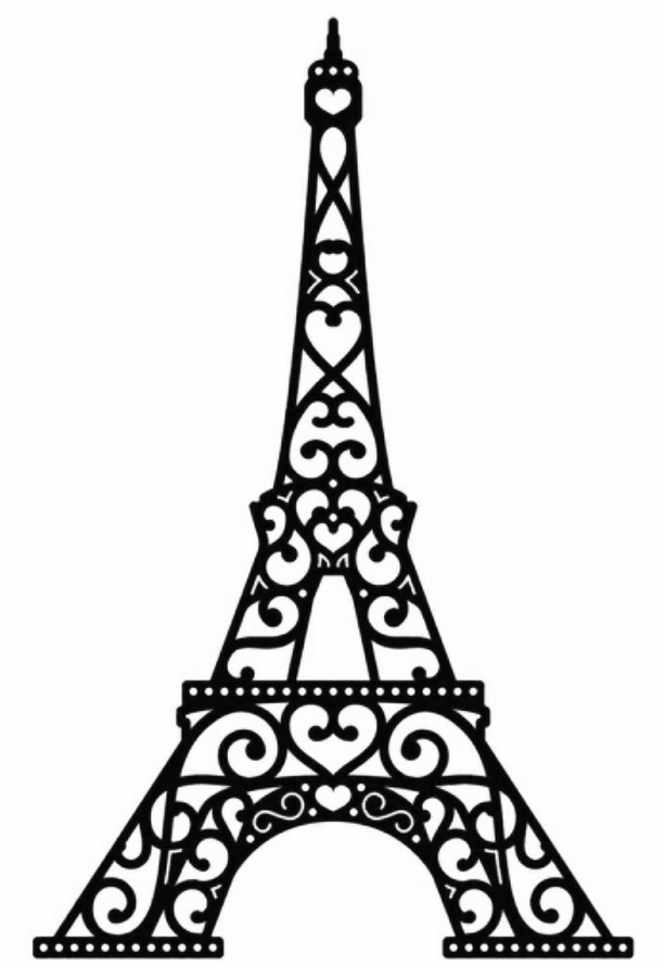 eiffel tower printable free printable eiffel tower coloring pages for kids eiffel tower printable