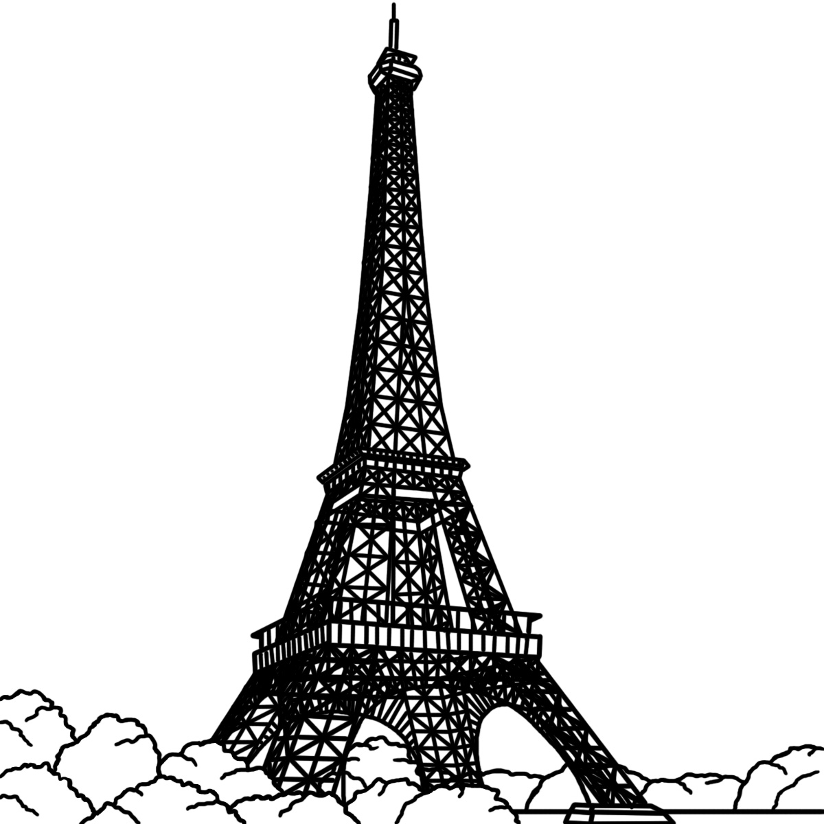 eiffel tower printable paris eiffel tower coloring pages download and print for free printable tower eiffel