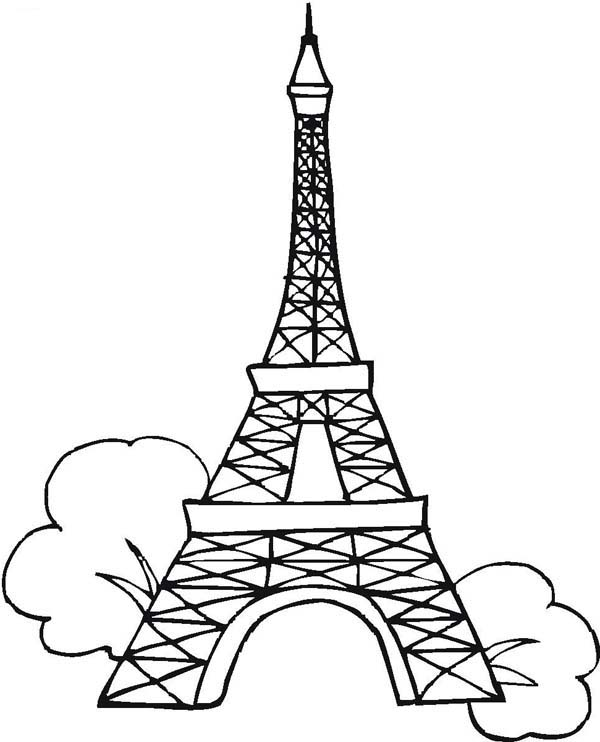 eiffel tower printable printable eiffel tower coloring pages for kids cool2bkids eiffel tower printable 1 1