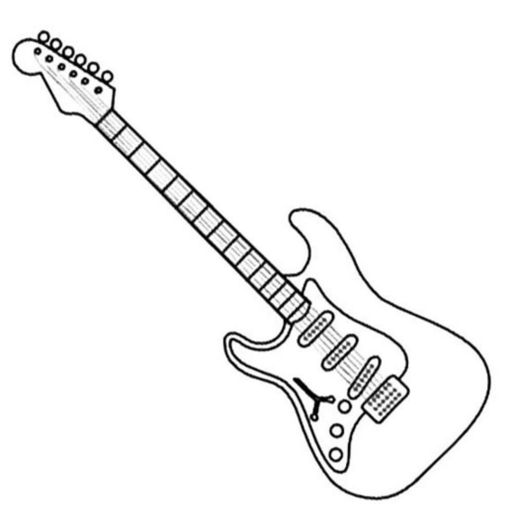 electric guitar coloring page electric guitar outline drawing at getdrawings free download page guitar electric coloring
