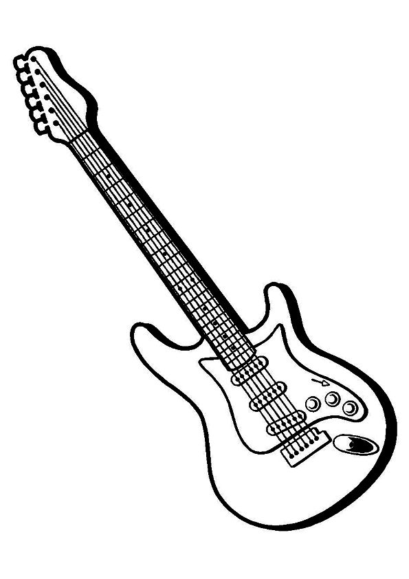 electric guitar coloring page gritty guitar coloring free electric guitar coloring electric guitar page