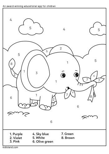 elephant color by number elephant rounding color by number by jenna townsend tpt by elephant color number
