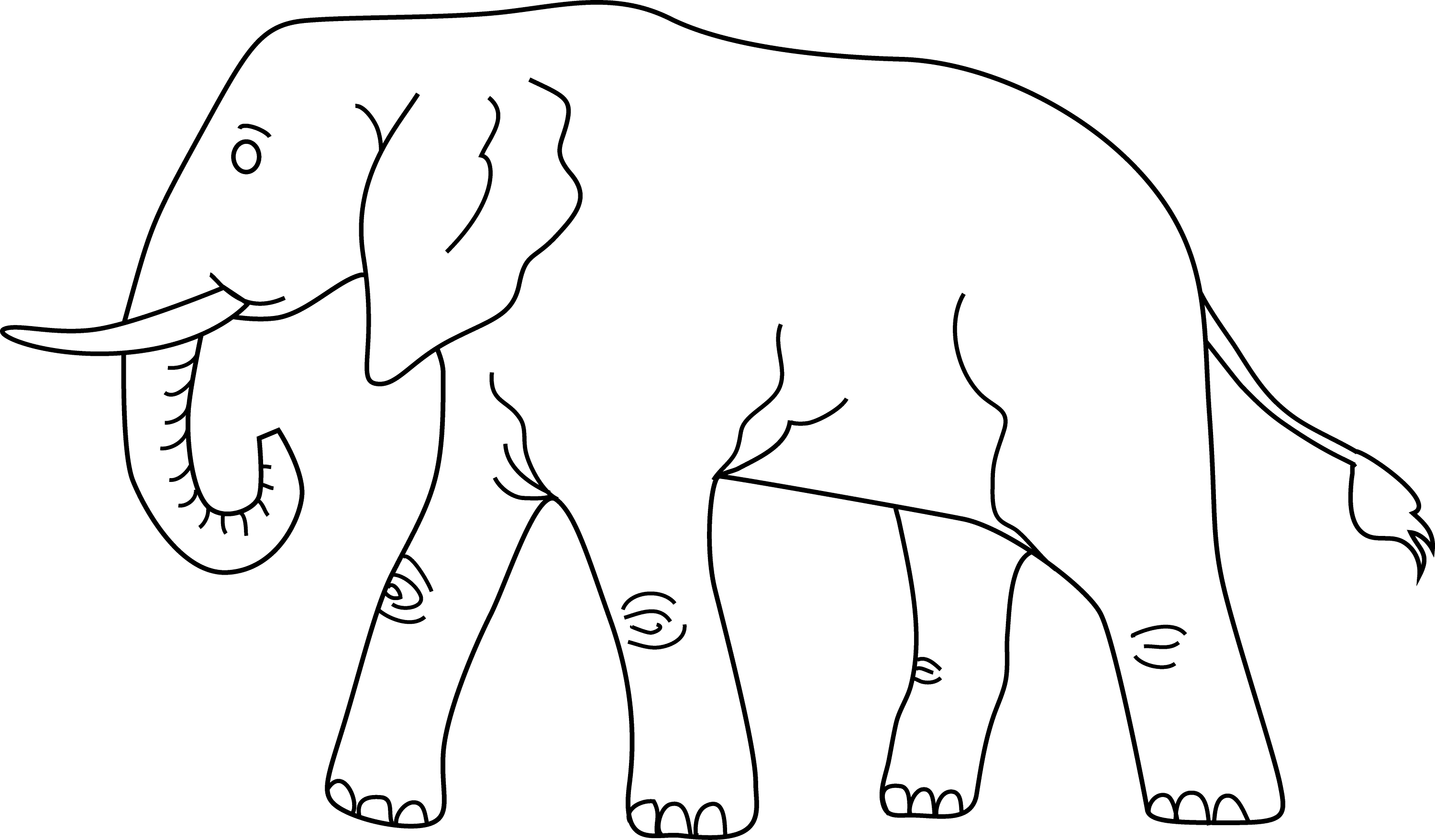 elephant outline coloring page baby elephant head clipart black and white 20 free outline page coloring elephant