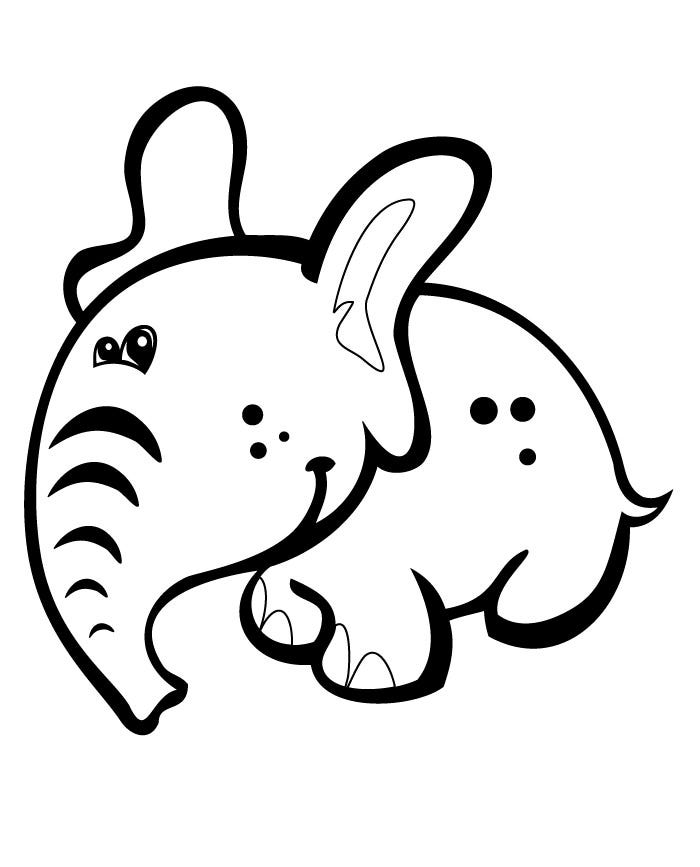 elephant outline coloring page baby elephant outline clipartsco outline coloring page elephant