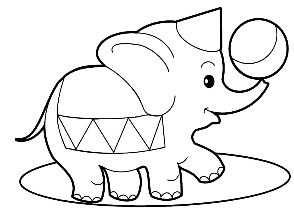 elephant outline coloring page circus elephant outline coloring pages best place to color elephant outline coloring page