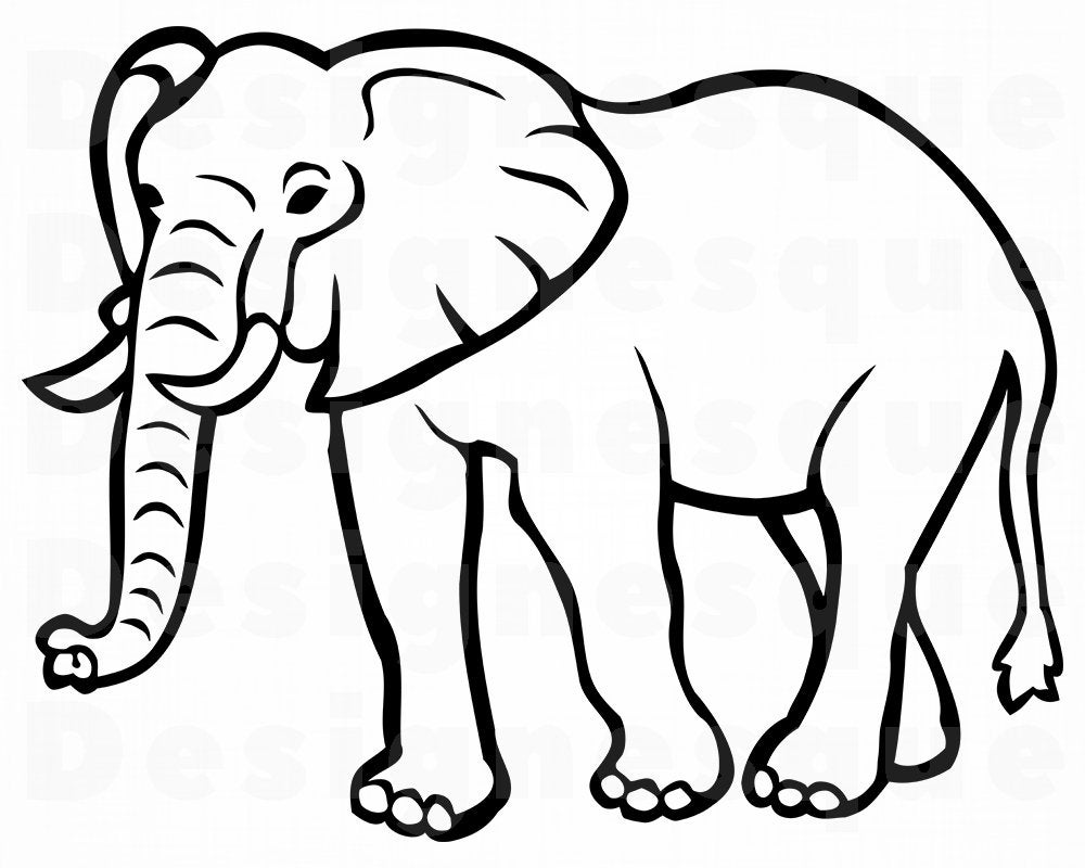 elephant outline coloring page easy elephant coloring pages ideas for beginners elephant page coloring outline